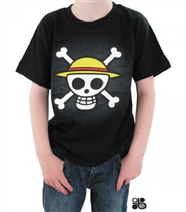 MAGLIETTA T-SHIRT - ONE PIECE - SKULL WITH MAP BAMBINO 5-6 ANNI