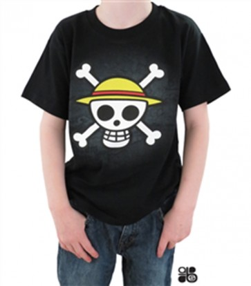 MAGLIETTA T-SHIRT - ONE PIECE - SKULL WITH MAP BAMBINO 7-8 ANNI