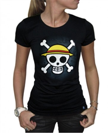 MAGLIETTA T-SHIRT - ONE PIECE - SKULL WITH MAP DONNA TAGLIA L