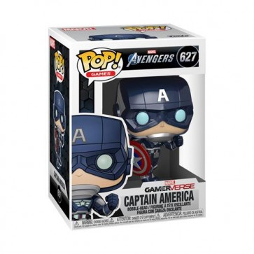 MARVEL: AVENGERS 2020 GAME - POP FUNKO VINYL FIGURE 627 CAPTAIN AMERICA (STARK TECH SUIT) 9CM