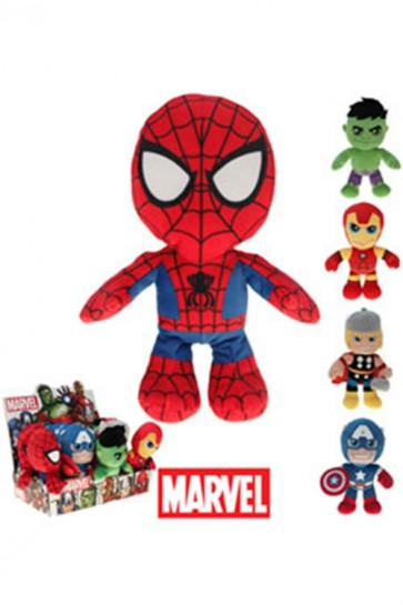 MARVEL COMICS - PERSONAGGI  DISPLAY (12 PEZZI) - PELUCHE 22CM