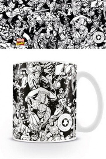 MARVEL COMICS - TAZZA - B&W CHARACTERS