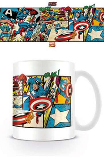 MARVEL COMICS - TAZZA - CAPITAN AMERICA PANELS