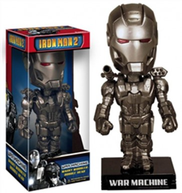 MARVEL IRON MAN 2 BOBBLE HEAD FUNKO WAR MACHINE 18 CM