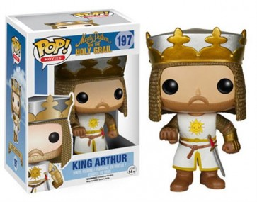 MONTY PYTHON AND THE HOLY GRAIL - POP FUNKO VINYL FIGURE 197 KING ARTHUR 10 CM