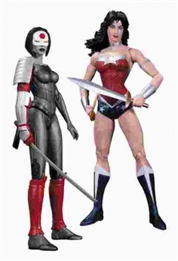 NEW 52 - WONDER WOMAN VS KATANA PACK 2 ACTION FIGURES 15 CM