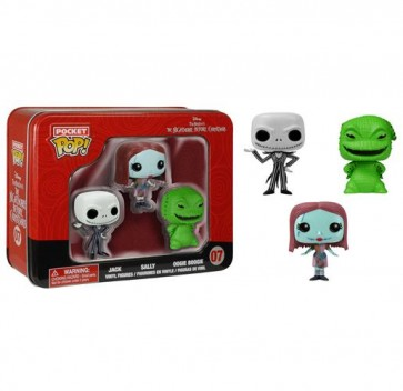 NIGHTMARE BEFORE CHRISTMAS POCKET POP! - 3 PACK TIN 07  - 4CM