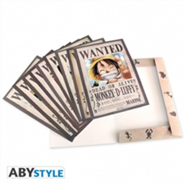 ONE PIECE - RACCOLTA DI 9 POSTER WANTED TAGLIE PERSONAGGI ONE PIECE FORMATO A4