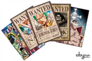 ONE PIECE - SET 2 X5 CARTOLINE ZORO WANTED