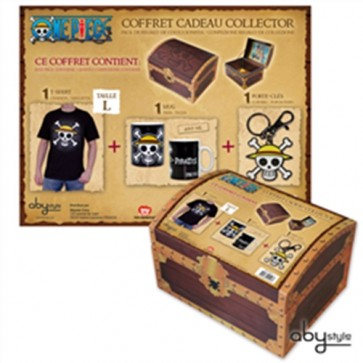 ONE PIECE BOX REGALO T-SHIRT TAGLIA M + TAZZA + PORTACHIAVI