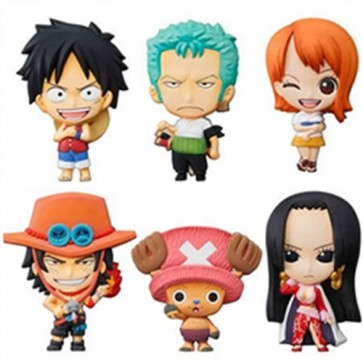 ONE PIECE CALAMITE SET DA 12 PEZZI MASCOT RELIEF COLLECTION MAGNET SET