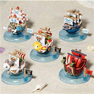 ONE PIECE WOBBLING FIGURES SET 6 MINI-NAVI YURAYURA PIRATE SHIP COLLECTION SET 1
