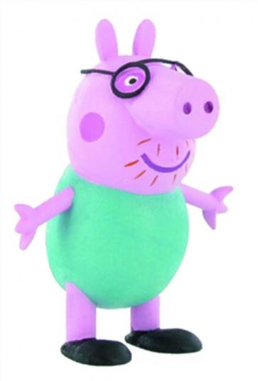 PEPPA PIG MINI FIGURE - PAPA' PIG - 6 CM