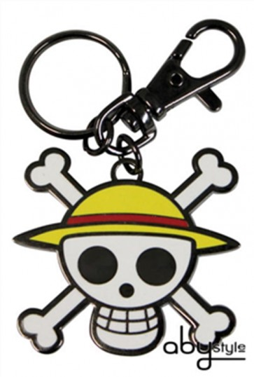 PORTACHIAVI ONE PIECE LOGO TESCHIO SKULL IN METALLO 5 CM