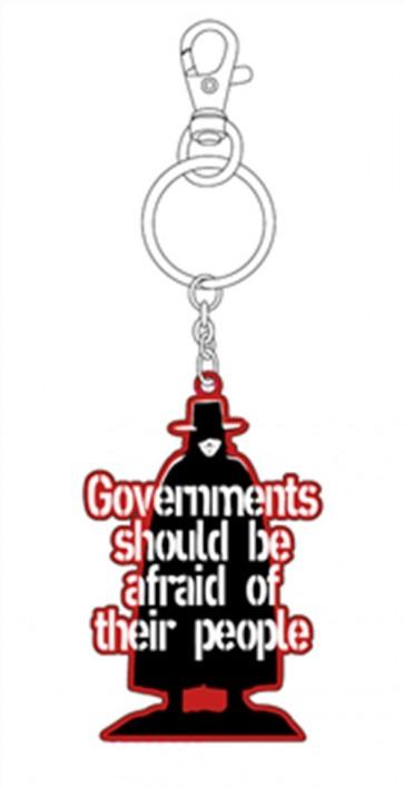 PORTACHIAVI V FOR VENDETTA GOVERNMENTS IN METALLO