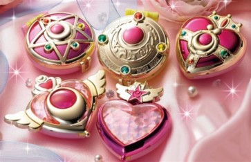 SAILOR MOON - COMPACT MIRROR DELUXE SET - 5 SPECCHIETTI