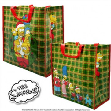 SHOPPING BAG SIMPSONS CHRISTMAS FAMILY