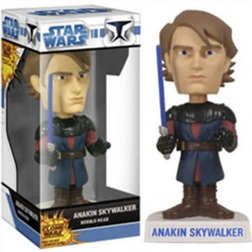 STAR WARS - BOBBLE HEAD FUNKO FORCE CLONE WARS ANAKIN 17 CM
