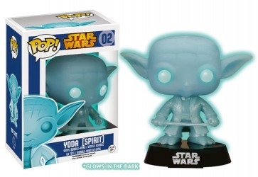 STAR WARS - POP FUNKO VINYL FIGURE 02 FORCE SPIRIT YODA GLOW IN THE DARK 10 CM