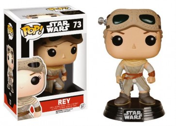 STAR WARS EPISODE VII - POP FUNKO VINYL FIGURE 73 REY & GOOGLES LIMITED EDITION 10CM