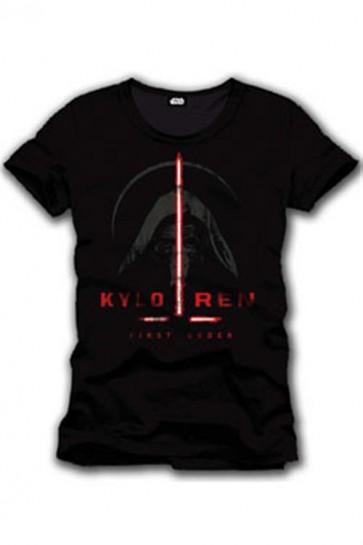 STAR WARS EPISODE VII - T-SHIRT UOMO - KYLO REN FIRST ORDER - S
