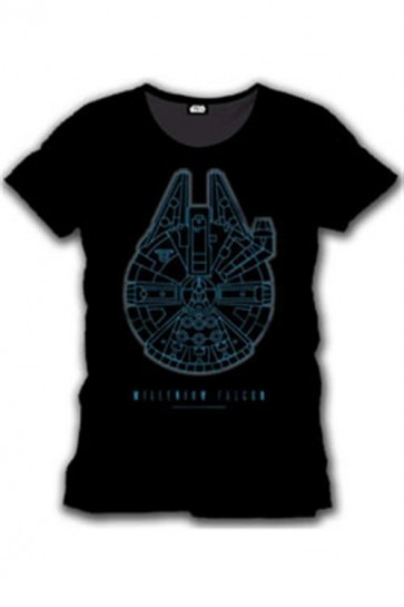 STAR WARS EPISODE VII - T-SHIRT UOMO - MILLENIUM FALCON - XL