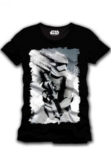 STAR WARS EPISODE VII - T-SHIRT UOMO - STORMTROOPER ART - S