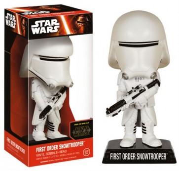 STAR WARS EPISODE VII - WACKY WOBBLER - FIRST ORDER SNOWTROOPER - BOBBLE HEAD 15CM