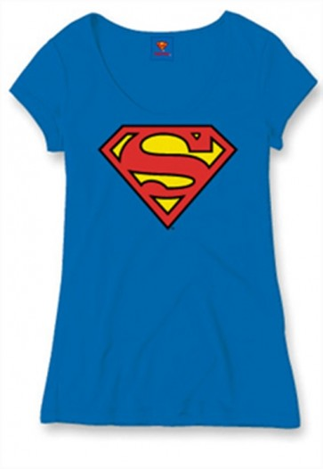 SUPERMAN - T-SHIRT DONNA - CLASSIC LOGO - M