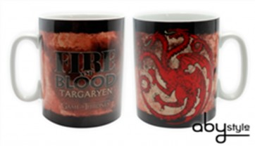 TAZZA LOGO TARGARYEN GAME OF THRONES HBO TRONO DI SPADE FORMATO GRANDE
