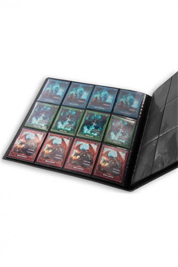 UGD010345 - 12 POCKET QUADROW FLEXXFOLIO ALBUM - BLACK