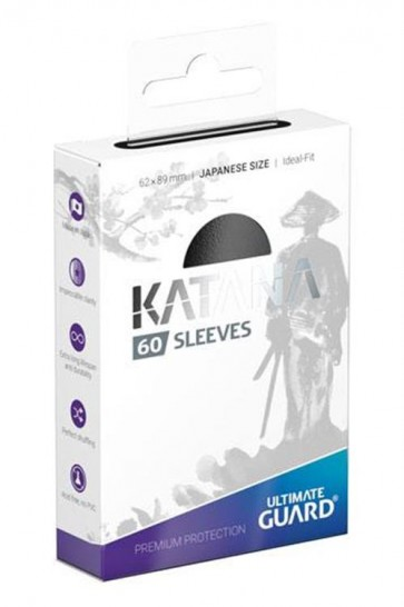 UGD011054 - 60 KATANA SLEEVES JAPANESE SIZE - BLACK