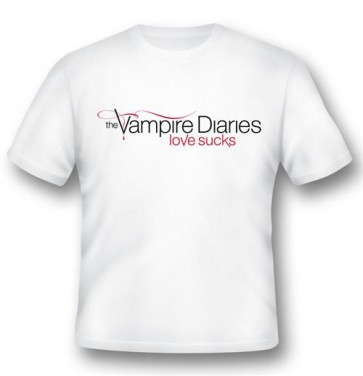 VD01 - T-SHIRT VAMPIRE DIARIES LOVE SUCKS L