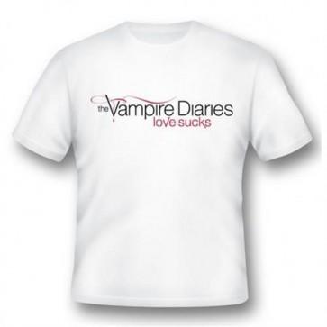 VD01 - T-SHIRT VAMPIRE DIARIES LOVE SUCKS S