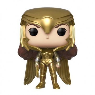 WONDER WOMAN 1984 - POP FUNKO VINYL FIGURE 323 WONDER WOMAN (GOLD POWER POSE) 9CM