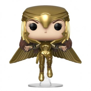 WONDER WOMAN 1984 - POP FUNKO VINYL FIGURE 324 WONDER WOMAN (GOLD FLYING POSE) 9CM