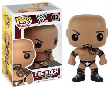 WWE WRESTLING - POP FUNKO VINYL FIGURE 03 THE ROCK 10CM